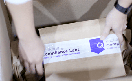 placing samples into shipper for shipment